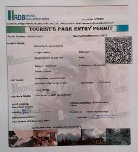 Rwanda gorilla permits